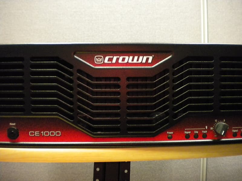 crown ce1000 2 channel power amplifier robert 39 s gear reverb. Black Bedroom Furniture Sets. Home Design Ideas