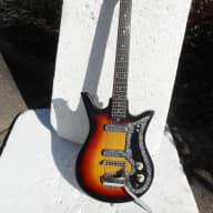 Teisco Checkmate ET-200 Guitar, 1960's,  Japan, Sunburst, 2 Pu, Wang Bar for sale
