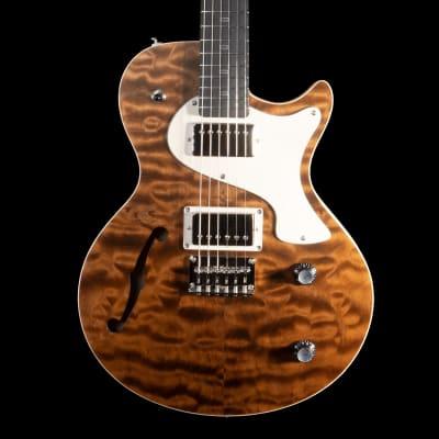 PJD Carey Elite Electric Guitar w/ F-Hole in Teddy Bear Brown for sale