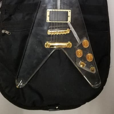 Grand Flying V 1970s Clear Acrylic for sale