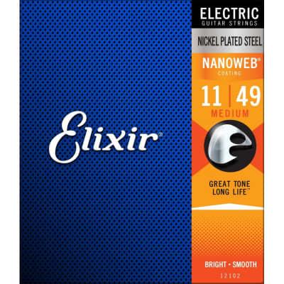Elixir Nanoweb Medium 11-49 Electric Strings