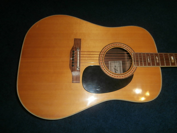 vintage 1980 39 s aria 6810 acoustic guitar project made in reverb. Black Bedroom Furniture Sets. Home Design Ideas