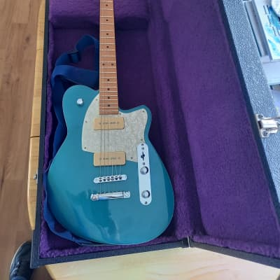 Reverend Charger 290 with Roasted Maple Neck 2018 Oceanside Green for sale