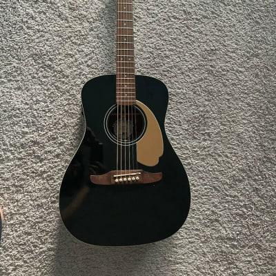 Fender Malibu Player California Series JTB Jetty Black Acoustic Electric Guitar