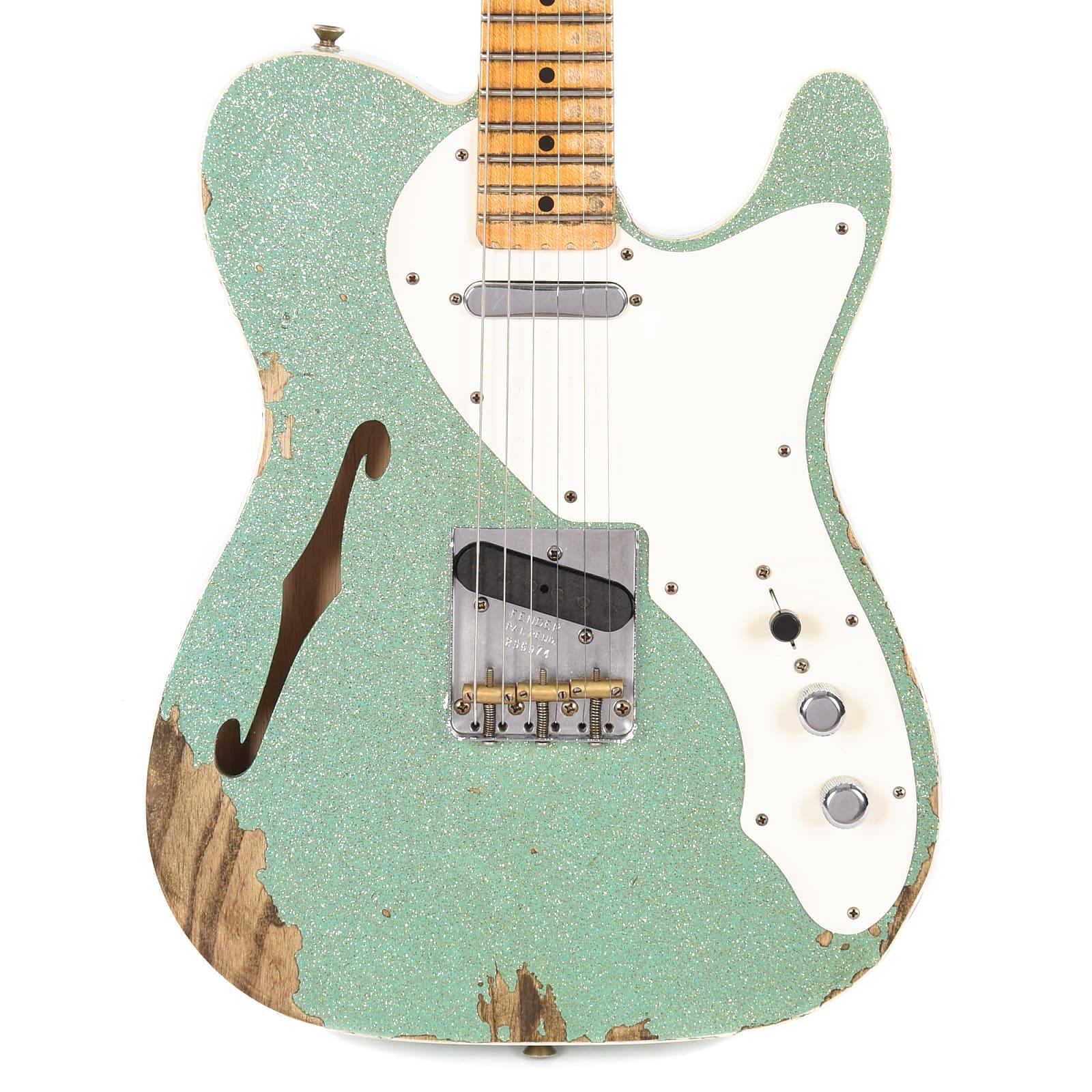 Fender Custom Shop 2018 NAMM Limited '50s Custom Telecaster Thinline Aged  Seafoam Sparkle