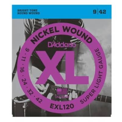 D'Addario EXL120 Electric Guitar Strings, Super Light, .009 - .042