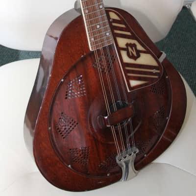 National Resonator Mandolin 1930s Woodgrain on metal for sale