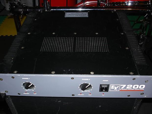 electro voice ev 7200 stereo power amplifier pa amp reverb. Black Bedroom Furniture Sets. Home Design Ideas