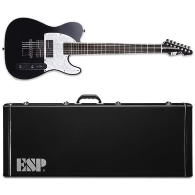 ESP STEF-T7B Fishman Stephen Carpenter 7-String Black Baritone Guitar MIJ with Hardshell Case for sale