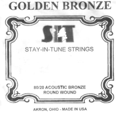 Sit .022 Gb   Corda Singola Per Chitarra Acustica   Golden Bronze 80/20 Wound