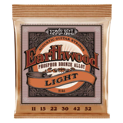 Ernie Ball 2148 Earthwood Light Phosphor Bronze Acoustic Guitar Strings - 11-52 Gauge