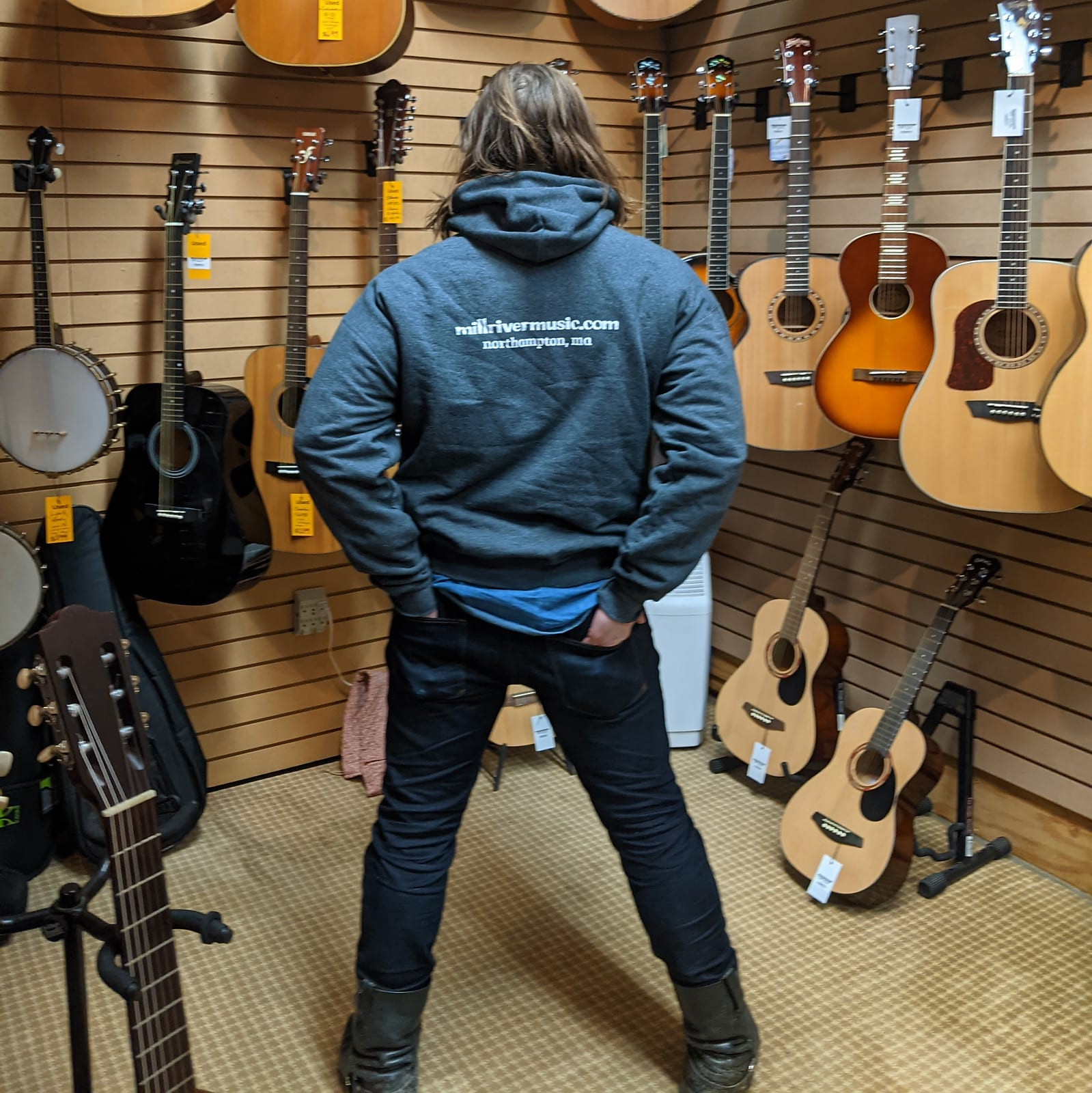 Mill River Music Pullover Hoodie 1st Edition Main Logo Unisex Ch Heather 3XL