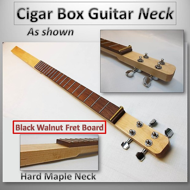 one cigar box guitar necks hard maple and fretted cigar reverb. Black Bedroom Furniture Sets. Home Design Ideas