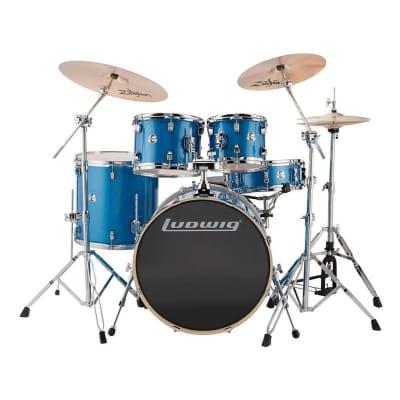 "Ludwig Element Evolution 8x10 / 9x12 / 16x16 / 18x22 / 5x14"" Drum Set"