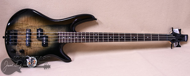 Ibanez GIO GSR200SM Electric Bass Guitar in Natural Grey | Reverb