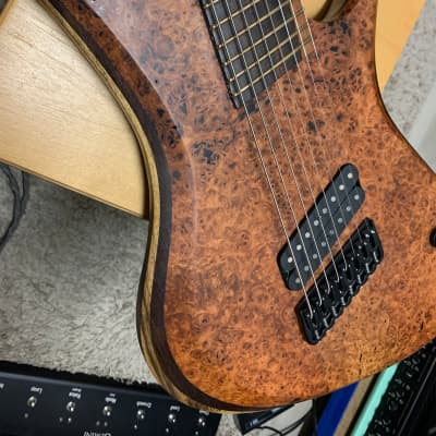 Red Layer Guitars Juggernaut 8 String Meshuggah 2018 Burl Top Fredrik Thordendal for sale