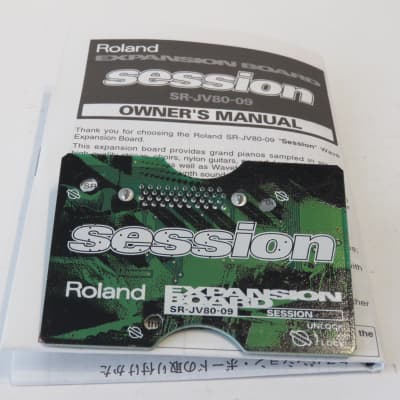 Roland SR-JV80-09 Session Expansion Card / Board for XP/JV Synths