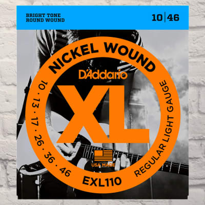 D'Addario EXL110 Light Nickel Wound Electric Guitar Strings 10-46