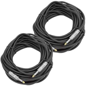 "Seismic Audio FS50-2 1/4"" Male TS to 1/4"" Male TS Speaker Cable - 50' (2-Pack)"
