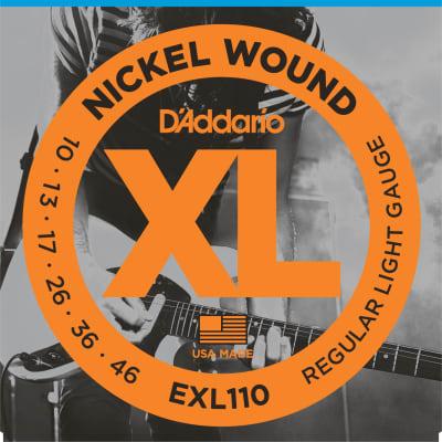 D'Addario EXL110-3D Nickel Wound Electric Guitar Strings 10-46 3-pack