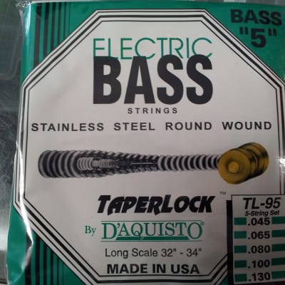 D'aquisto Stainless Steel Electric Basss Strings - 5 string Bass