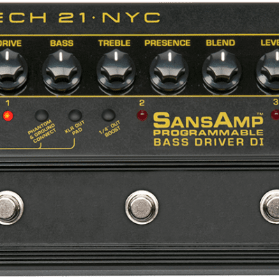 Tech 21 SansAmp Programmable Bass Driver DI *NEW IN BOX*