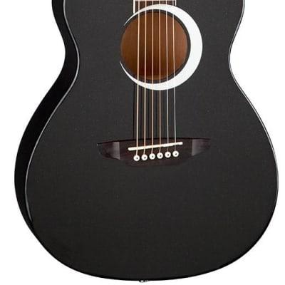 Luna Aurora Borealis 3/4 Acoustic Guitar Black for sale