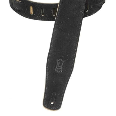 "Levy's Suede Guitar Strap 2 1/2"" With Suede Backing Black"