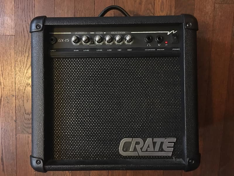 crate gx 15 guitar combo amp great for practice but loud reverb. Black Bedroom Furniture Sets. Home Design Ideas