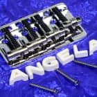 Genuine Fender Chrome Deluxe Precision Bass Jazz Bass Bridge 0058396000 New image