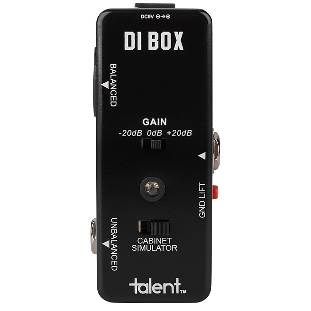gt di di box guitar mini fx pedal stomp box xlr out cabinet reverb. Black Bedroom Furniture Sets. Home Design Ideas