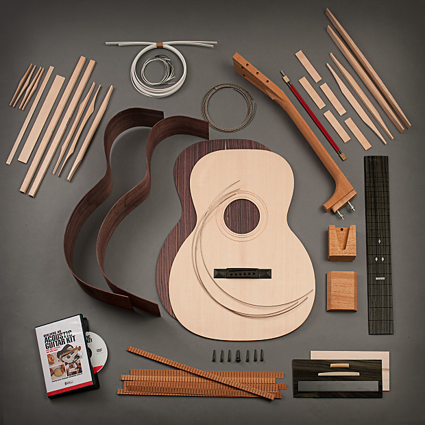 Acoustic Guitar Rosewood Back And Sides Build Kit