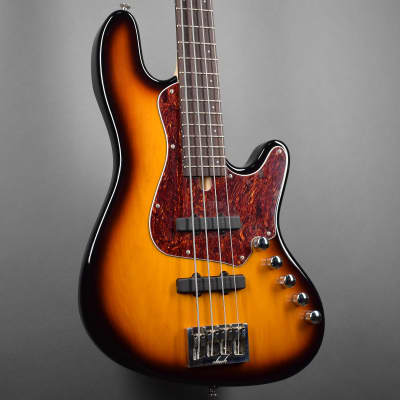 Elrick Standard Handmade New Jazz Standard 4-String Bass Guitar, Tobacco Sunburst Finish, for sale