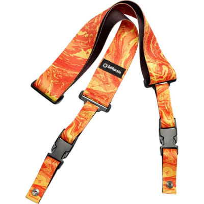 DiMarzio DD2245 Steve Vai ClipLock Strap, Orange Universe for sale