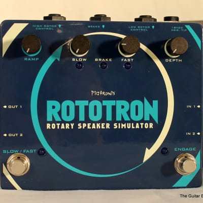 Pigtronix Rototron Analog Rotary Speaker Simulator Blue, Teal, White Never Played 2017 New Old Stock
