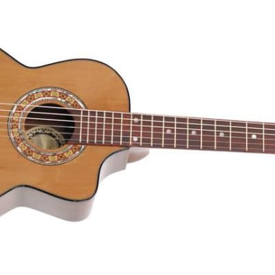 Paracho Elite Guitars Gonzales 6 String Requinto Natural for sale