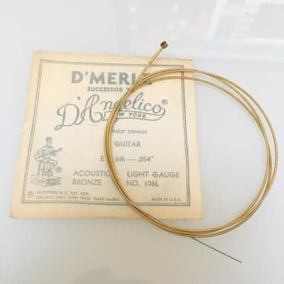 D'Angelico Vintage D'Merle No. 106L Bronze Guitar String .054
