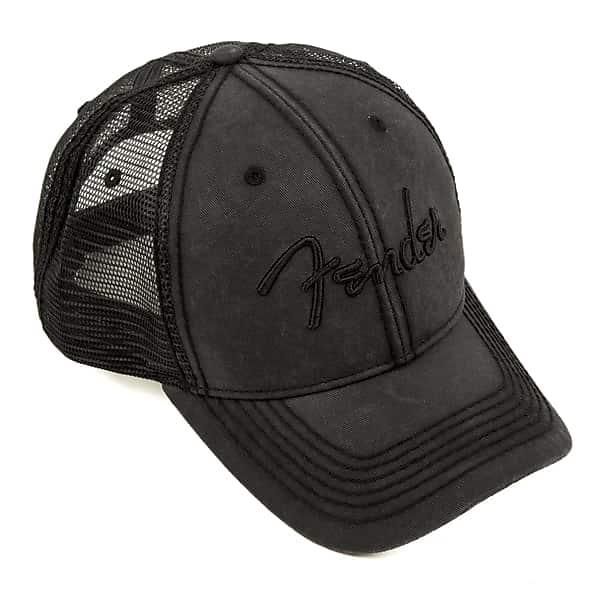 c3c2d0bf76a Fender Blackout Vintage Washed Style Adjustable Trucker Hat