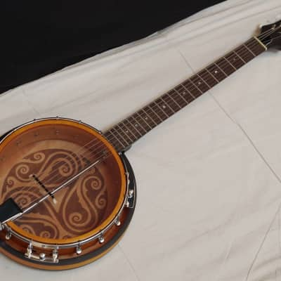 LUNA BGB Celtic 6-string Bluegrass Resonator BANJITAR banjo GUITAR new for sale