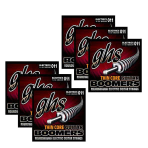 GHS TC-GBM Thin Core Guitar Boomers Medium Roundwound Electric Guitar Strings 11-50