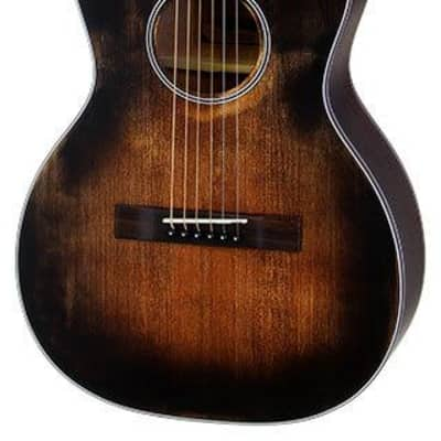 Aria Delta Players Series Parlour Acoustic Guitar in Muddy Brown Finish for sale