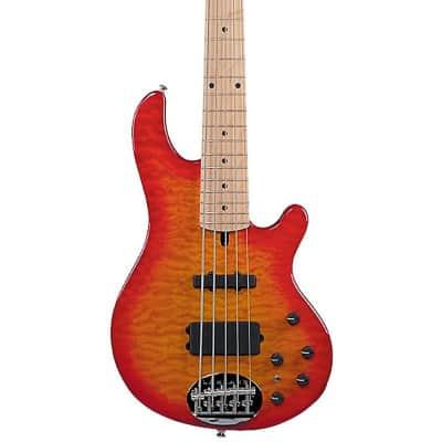 Lakland Skyline Deluxe 55-02 5-String Bass Regular Cherry Sunburst Maple Fretboard image