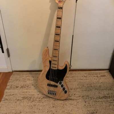 Fender American Deluxe Jazz Bass V Ash w/ Maple Fretboard 2017 Natural for sale