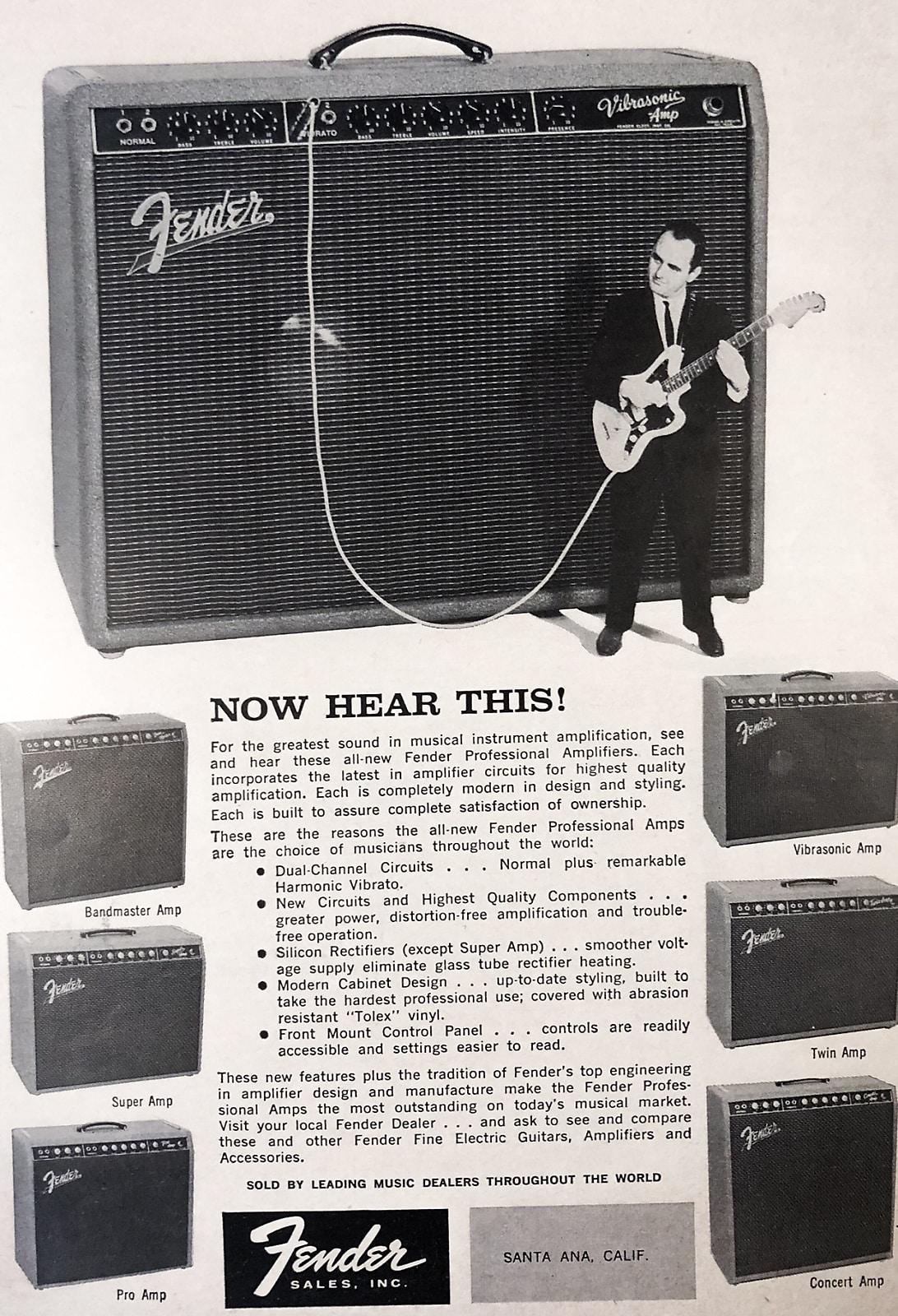 Vintage Fender Ad From 1960 Framed