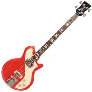 Italia Mondial Sportster Electric Bass Guitar - Red for sale