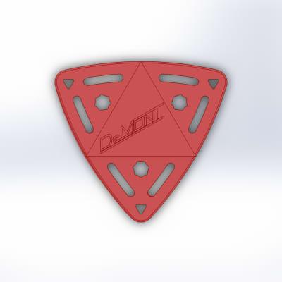 (3) Guyatone Delta Sonic Engineered Molded High End Guitar Picks - Polypropylene/Fiber