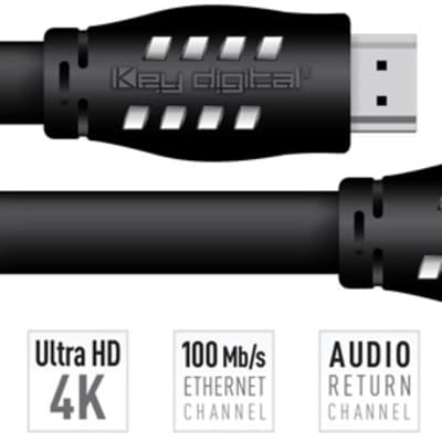 Key Digital KD-Pro12 12FT HDMI Cable (18G, HDR10, UHD/4K, CL3/FT4, 26AWG)