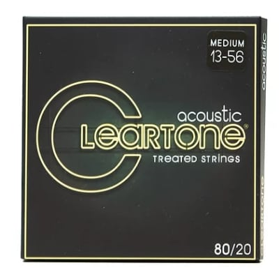 Cleartone 013-.056 MEDIUM 7613 80/20 Bronze Acoustic Guitar Strings 6 PACKS