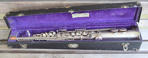 buescher true tone soprano 1924 silver plated sax reverb. Black Bedroom Furniture Sets. Home Design Ideas