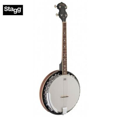 Stagg BJM30 4DL Mahogany Resonator 4-String Bluegrass Banjo Deluxe w/Metal Pot for sale
